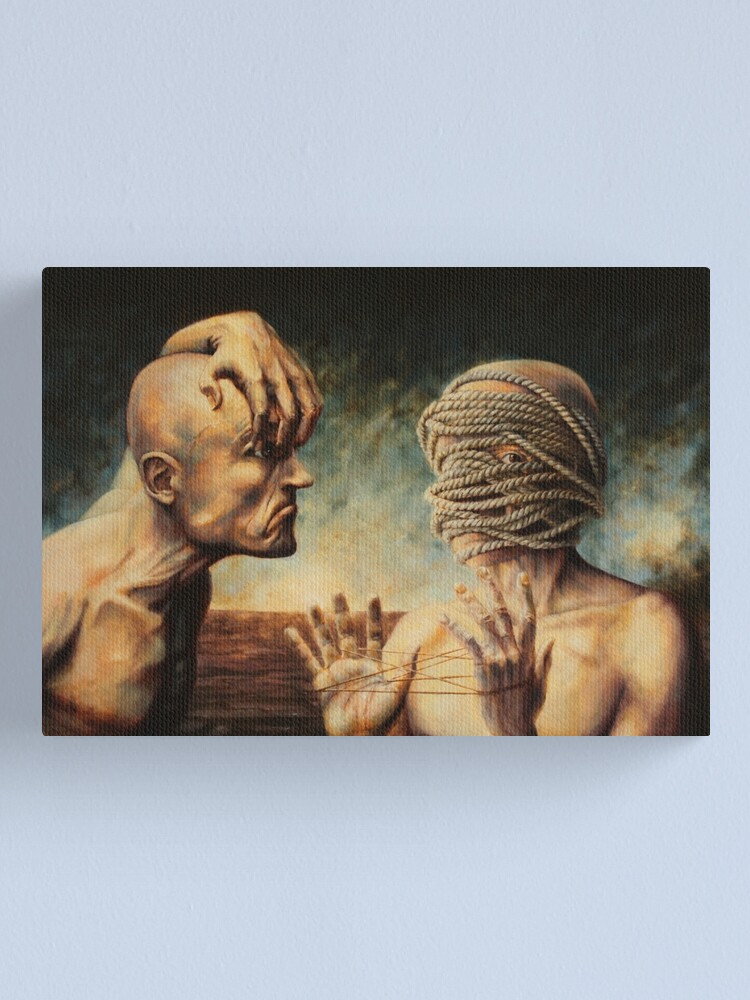 Alternate view of The Debate Canvas Print