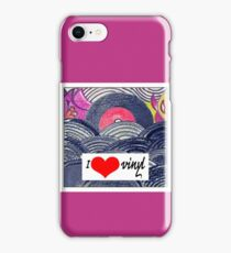 Retro love:I heart vinyl iPhone Case/Skin
