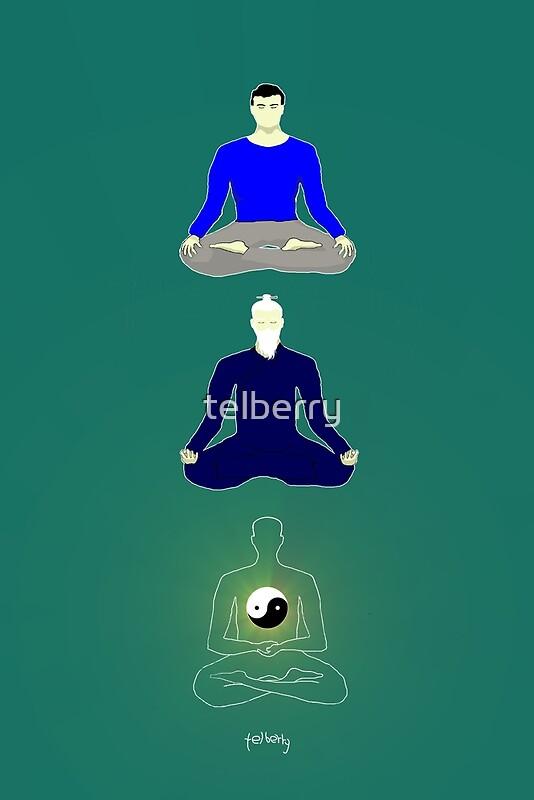 Taoist meditation | Art Print