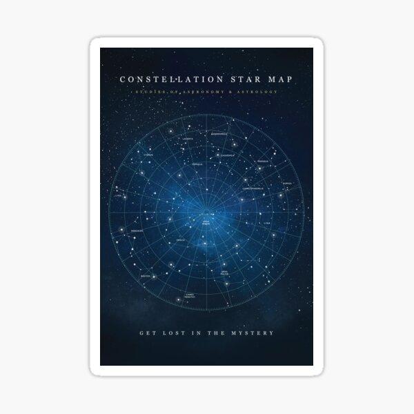 Constellation Star Map Sticker