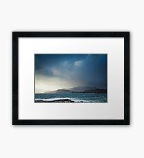 Storm clouds over Sliabh Liag Framed Print