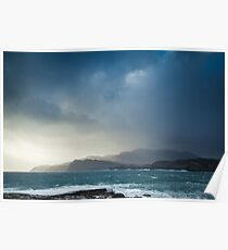 Storm clouds over Sliabh Liag Poster