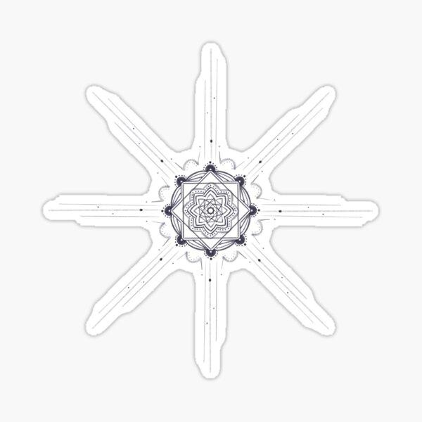 Starlight mandala sketch  Sticker
