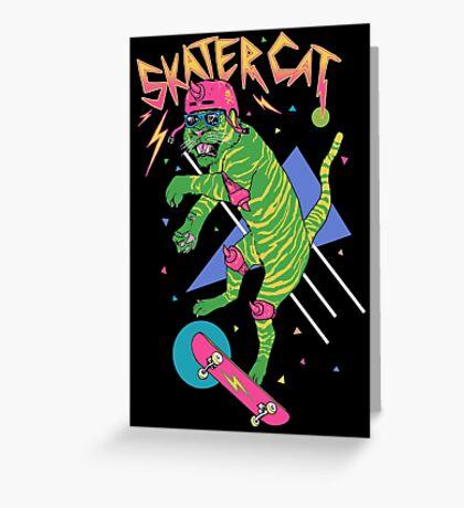 Skater Cat Greeting Card