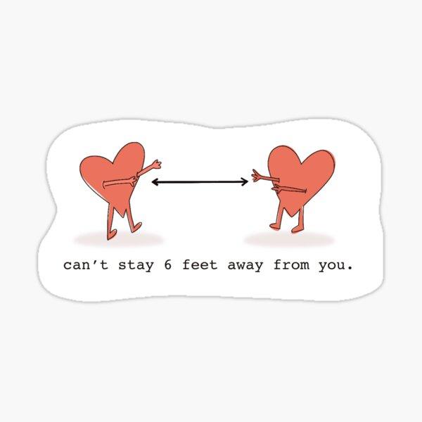 Socially Distanced Valentine Sticker