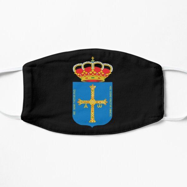 escudo de armas de la bandera de asturias Mascarilla plana