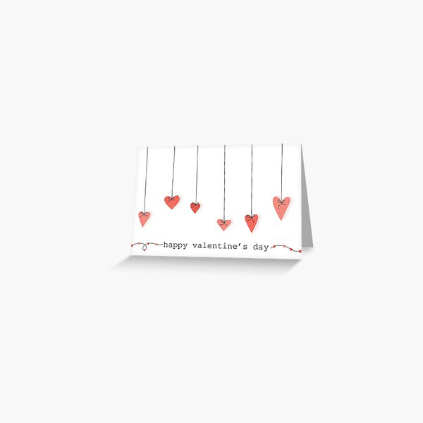 Happy Valentine's Day Hearts Greeting Card