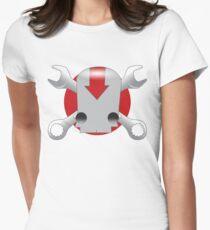 Robot Skull Women's Fitted T-Shirt