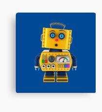 Surprised toy robot Canvas Print