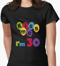 Birthday Balloons Kiss Me I'm 30 T-Shirt