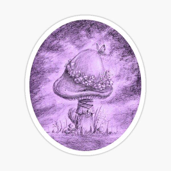 Fairy Mushroom (Purple Sticker) Sticker