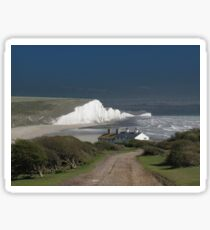 Cottages & The Seven Sisters Sticker