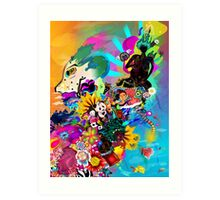 Black Asiatic Art Print