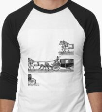 Old carriage, horses, vintage vehicle, steampunk illustration T-Shirt
