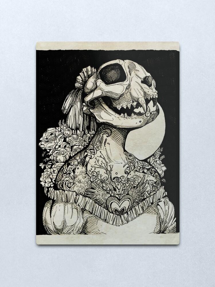 Alternate view of The Tattooed Girl Metal Print