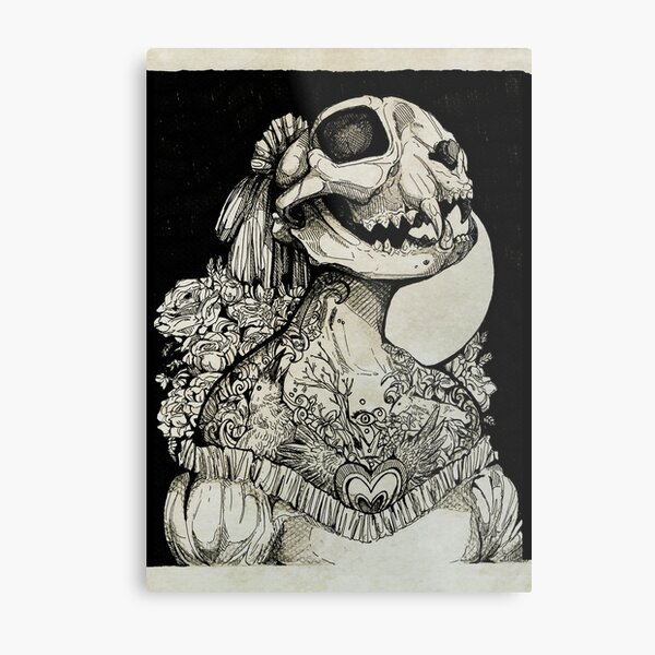 The Tattooed Girl Metal Print