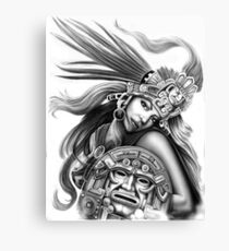 Warrior aztec Canvas Print