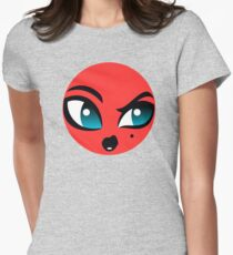 Lady Beast Character Womens Fitted T-Shirt