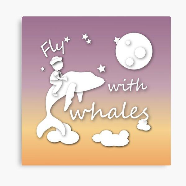 Voler avec les baleines Impression sur toile