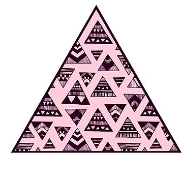 aztec pink triangle by nikolech