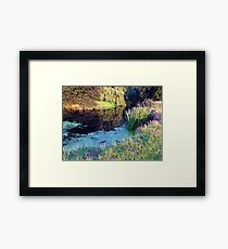 Colourful English countryside landscape  Framed Print