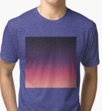 Simple Modern Peach to Purple Gradient Tri-blend T-Shirt