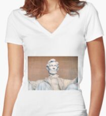 Lincoln Memorial Women's Fitted V-Neck T-Shirt
