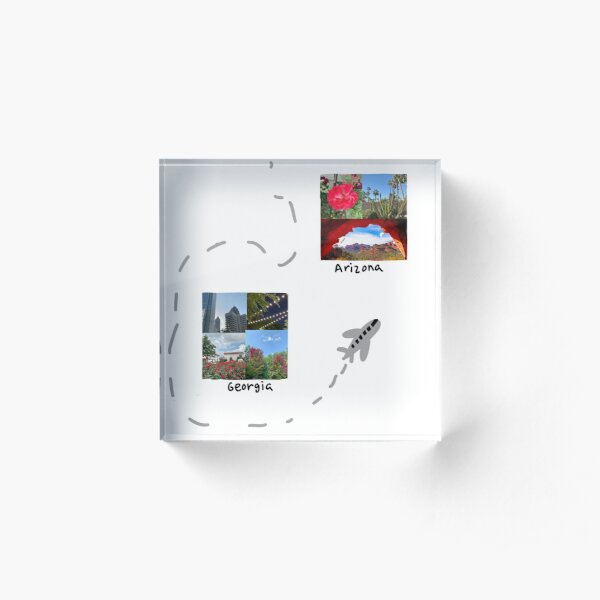 Travel Polaroids Acrylic Block