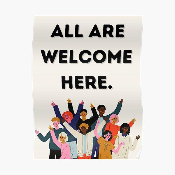 Alle sind hier willkommen Poster