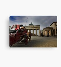 Brandenburg Gate, Berlin City colored Canvas Print