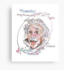 Albert Einstein Picture Quote - Insanity Metal Print