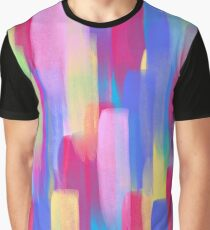 Vertical Watercolor Abstract Vivid Colorful Pop Graphic T-Shirt