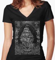 Prayer for the Seafarer Women's Fitted V-Neck T-Shirt