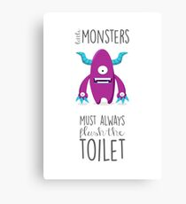 Bathroom rules for kids! Canvas Print