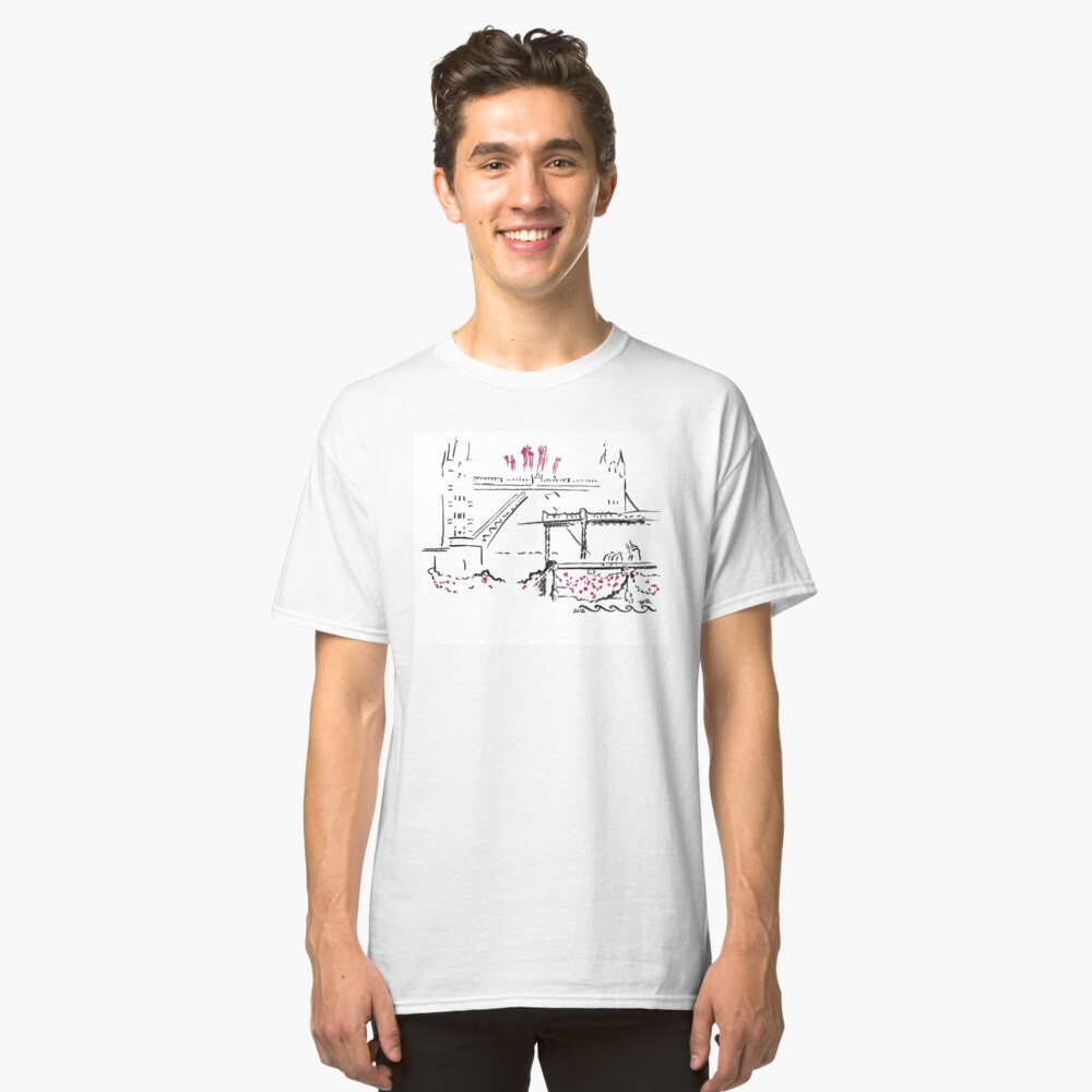 The Queen's Diamond Jubilee River Pageant Classic T-Shirt Front