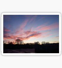 Welsh sunrise landscape Sticker