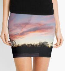 Welsh sunrise landscape Mini Skirt