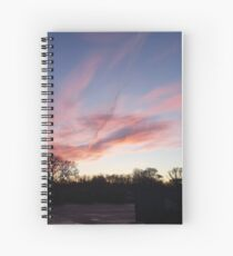 Welsh sunrise landscape Spiral Notebook