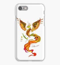 Phoenix vector illustartion in russian tradition style iPhone Case/Skin