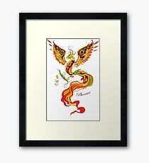 Phoenix vector illustartion in russian tradition style Framed Print