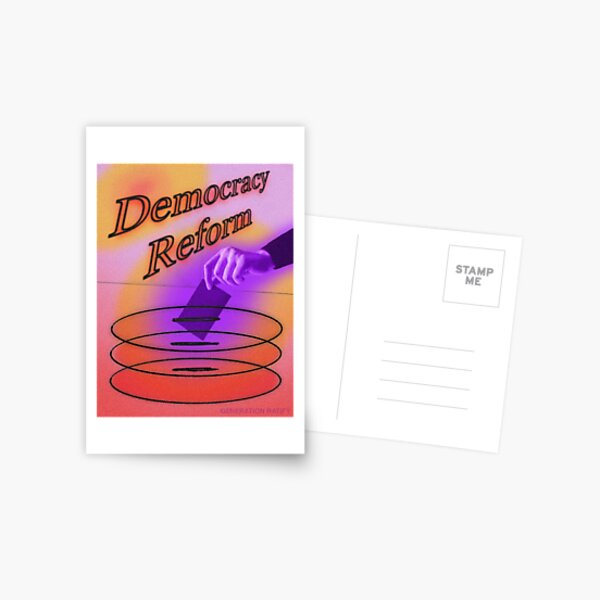 DEMOCRACY REFORM Postcard
