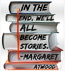Margaret Atwood and Books  Poster