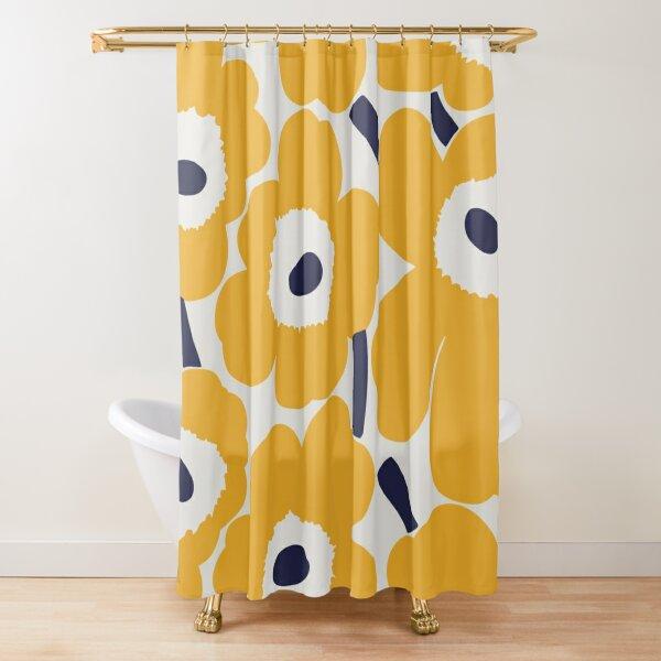 Flower grey & yellow design Shower Curtain