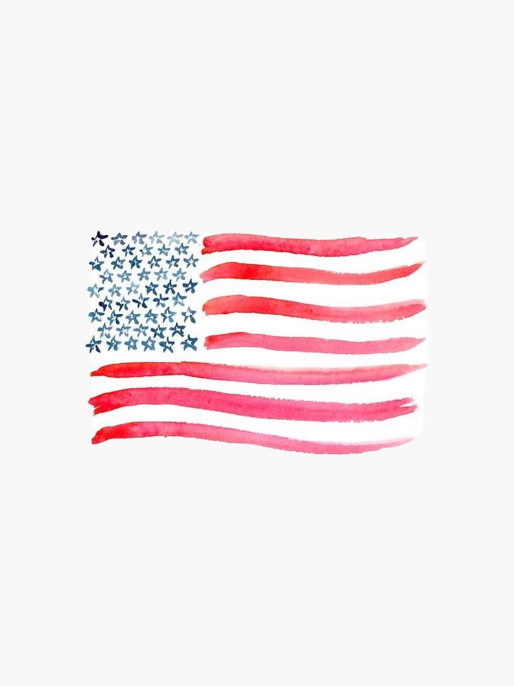 American Flag Watercolor by missgrumpypants