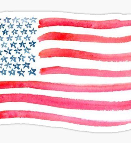 American Flag Watercolor Sticker