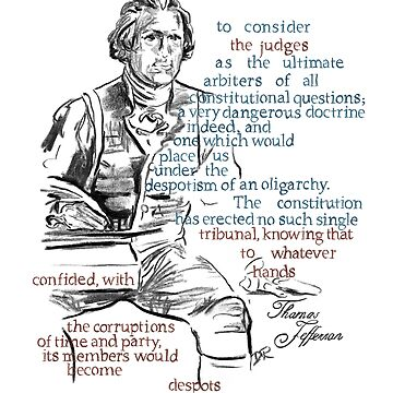 Thomas Jefferson Picture Quote - The Constitution by douglasrickard