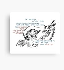 Teddy Roosevelt Picture Quote - America Canvas Print