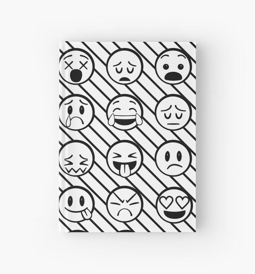 Cuadernos de tapa dura «Emoji Faces para colorear libro de arte» de ...