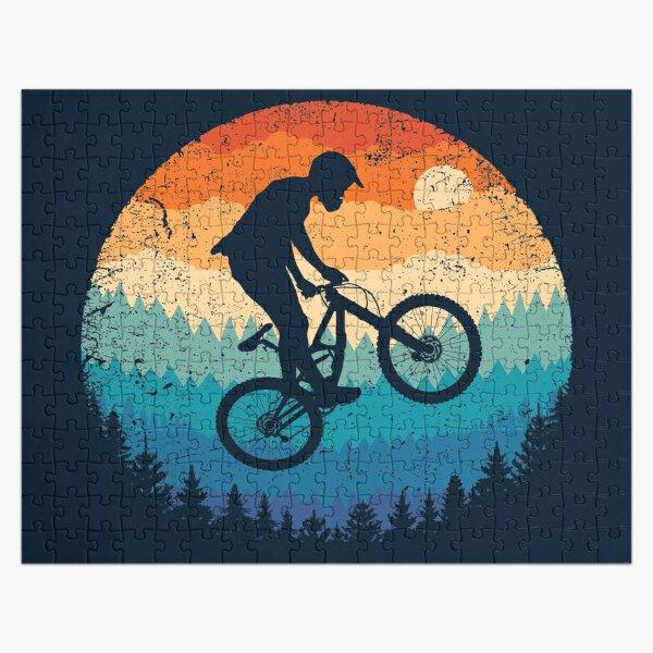 Mountain Biking Retro Jigsaw Puzzle