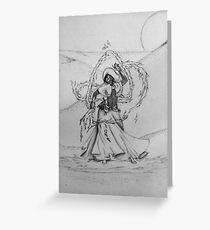 Fire Guardian Of the Acid Dunes Greeting Card